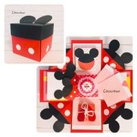 米奇禮物盒 手工卡片 爆炸卡 爆炸禮物盒 人節卡片 生日快樂卡片 手作卡片 立體卡片 米奇爆炸盒 聖誕卡片