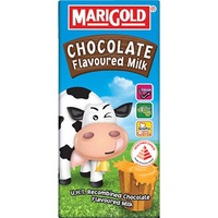 Marigold UHT chocolate Milk  (24 x 200ml) Marigold UHT fresh Milk  (24 x 200ml)