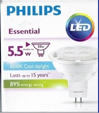 飛利浦philip LED MR16杯燈-5.5W/白光/460Lm**獨家特惠**