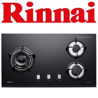 RINNAI RB-73TG 3-BURNER TEMPERED GLASS HOB