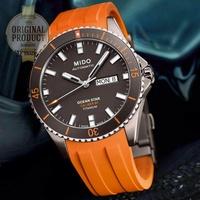 MIDO Ocean Star Captain Automatic Men's watch รุ่น M026.430.47.061.00 - TITANIUM/สายยางสีส้ม