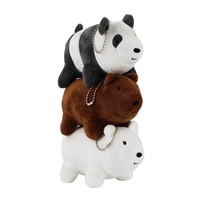 3 styles 13cm Anime Bear doll Cartoon Cute WE BARE BEARS keychain Plush Toys For Children's Gift - intl
