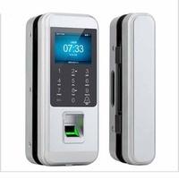 DOGNWEI FL10 Office Glass Door Lock Fingerprint Password Lock Free Oopening Wiring Access Control Card Smart Remote Control Door Lock