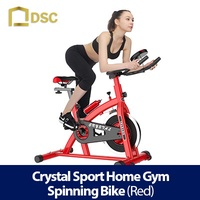 CRYSTAL SPORT HOME GYM SPINNING BIKE (RED)