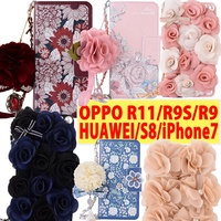 Luxury 3D Flower Phone Case for iPhone X 8  6 7plus OPPO R9S R11 Note 8 Huawei P10 P10 Plus