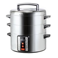 Iona GLST032 Electric Dual Use Steamer and Hot Pot