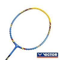 VICTOR 突擊羽球拍-4U-勝利 羽毛球拍 空拍 藍黃@TK-220H-4U@