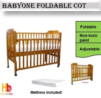 Baby One Foldable Cot W / 4inches Form Mattress