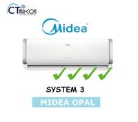 Midea OPAL SERIES [4 TICKS] System 3 Air Con  (SMKM-09 / 3 + MS40D-21 )