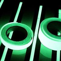 ★現貨♫♫PET夜光警示膠帶 高亮度發光膠帶 PVC蓄光亞克力螢光3m長膠帶