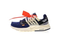 Off-White x Nike Air Presto Ow Virgil Abloh Men's Running Shoes Breathable Sports Sneakers (Navy Blue)