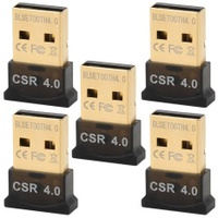 Ultra-Mini Bluetooth CSR 4.0 USB Dongle Adapters - Black (5 PCS) - intl