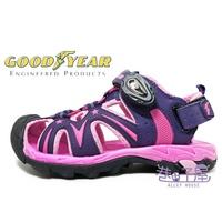 GOODYEAR 固特異 迷幻星河童款2WAY磁釦護趾涼鞋 涼拖鞋 [88077] 紫粉 【巷子屋】