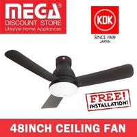 Kdk U48FP 48inch Ceiling Fan with Led Light (Black)