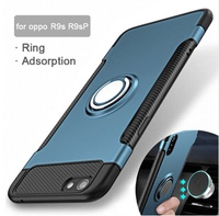 Finger Ring case For OPPO R15 R11 R11S R9 R9S Plus Armor Hybrid Protective Magnetic Cover