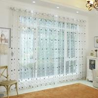 Honana WX-C11 1x2m Fashion Bird Nest Voile Door Curtain Panel Window Room Divider Sheer Curtain Home Decor