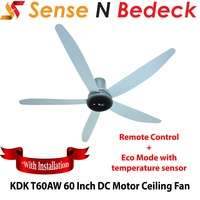 KDK T60AW 60 Inch DC Motor Ceiling Fan *With installation