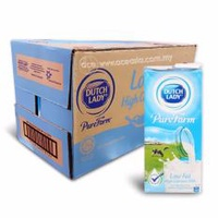 [[Carton Sale]] Dutch Lady (Low Fat) UHT Milk 1L * 12 packet per carton