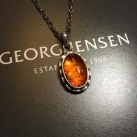 喬治傑生 2001 年度項鍊 琥珀 925純銀項鍊