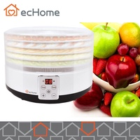 ecHome Food Dehydrator with 5 transparent trays