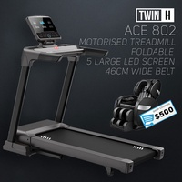 Twin H ACE 802 Motorised foldable treadmill 5 LCD Screen Multimedia Home Gym Professional Commercial