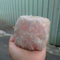 粉晶原礦燭台