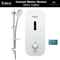 Rubine Instant Water Heater - RWH-1388W (5 Years Warranty On Heating Element)