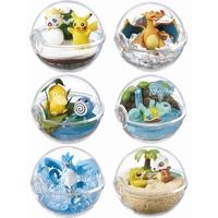 日本RE-MENT盒玩全6種皮卡丘盆景P2傑尼龜噴火龍急凍鳥神奇寶貝球203935C