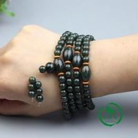Is natural green old jade bracelet with farmland jade the two-sided Buddha/walnut transport a Men's Bracelet - intl