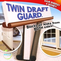 [As Seen on TV][SG Seller-KIELLP] Twin Door Draft Dodger Guard Stopper Energy Saving Doorstop Blocking Dust Wind Aircon Cool Strip/Insulate Windows Doors /Aircon leak protection/Stop Kitchen Odour