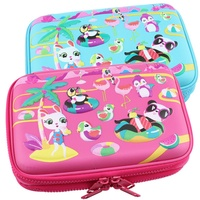 Spot smiggle pencil case EVA primary school pencil case double double zipper chi