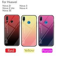 Huawei Nova 4 Nova 3 3i 3E Nova 2i Nova 2 Lite Aurora Tempered Glass Case Cover Casing