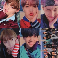 Linfang 8pcs Set KPOP BTS Album LOMO Cards Fashion Self Made Paper Photo Card HD Photocard