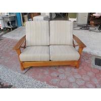 永勝二手家具    雙人座木頭沙發椅(B-592)   木頭椅  沙發椅  貴妃椅  ((運費請詳閱商品詳情))