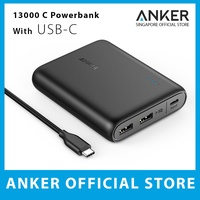 Anker PowerCore 13000 C (USB-C Input only), Compact 13000mAh 2-Port Ultra Portable Phone Charger, Power Bank with PowerIQ and VoltageBoost Technology, for iPhone, Samsung Galaxy and More
