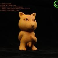 黃楊木雕藏狐好屌的小狐貍個性小木雕手把件 【有DIY半成品可選】