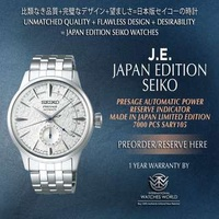 SEIKO JAPAN EDITION PRESAGE AUTOMATIC MADE IN JAPAN COCKTAIL TIME LIMITED EDITION 7000PCS POWER RESERVE INDICATOR SARY105