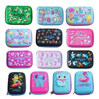 The smiggle pen box writing case in Australia student's pencil case lovely bag New Year gift of the cartoon hard shell zipper pen