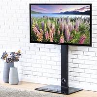 FITUEYES TV Stand with Swivel Mount for up to 55 inch Samsung Vizio TCL LED LCD flat screen TVs TT10