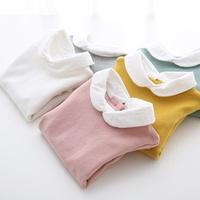&quot Arbutus&quot -fall 2015 new girls white collar base shirt t-shirt cotton stretch quality