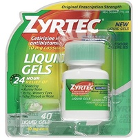 (Zyrtec) Zyrtec Allergy Liquid Gels 24 Hour  40 Count-