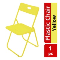HomeProud Foldable Plastic Chair - Yellow