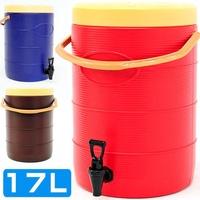 不鏽鋼17L茶水桶17公升冰桶開水桶保溫桶保溫茶桶.不銹鋼保冰桶保冷桶.手提冷熱飲料桶果汁桶D084-TY17L