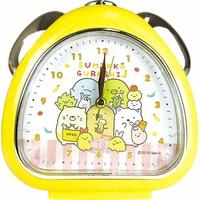 〔小禮堂〕角落生物 三角型鬧鐘《黃.購物》桌鐘.時鐘