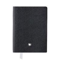 MONTBLANC 萬寶龍 真皮筆記本–口袋型 橫線/黑色 113295