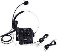 Call Center Dialpad and Monaural Corded Headset with RJ9 Plug Telephone with Noise Cancellation, PC Recording Function,Volume