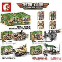 新品上市兼容樂高森寶軍事系列鋼鐵帝國吉普車炮臺高射炮坦克男孩積木玩具