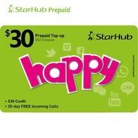 Starhub SGD 30 Prepaid Top-Up FREE SGD 4.50 Bonus