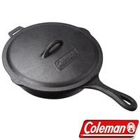 【美國Coleman】10吋經典鑄鐵附蓋平底鍋(CM-21880)