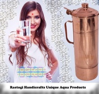 Pure Copper Water Bottle 850 Ml Bottle For Water Storage -Yoga Health Benefit - intl